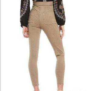 NWT Free People Stretch Frayed High Waisted Jeans